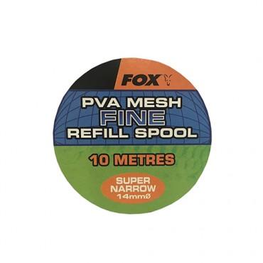 FOX PVA MESH FINE SUPER NARROW 14 MM REFILL SPOOL (10 M)