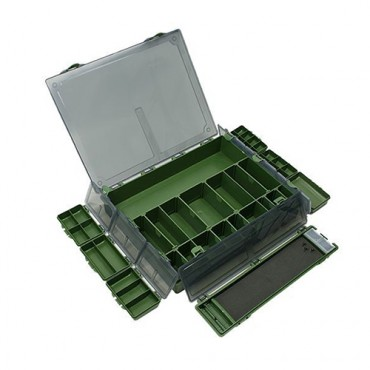 CAJA NGT TACKLE BOX SYSTEM 7+1 LARGE (36.5x29x6 CM)