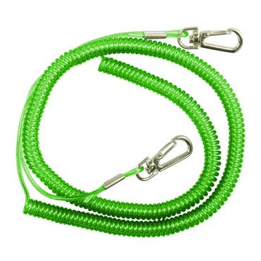DAM SAFETY COIL CORD WITH SNAP LOCKS (90-250 CM)