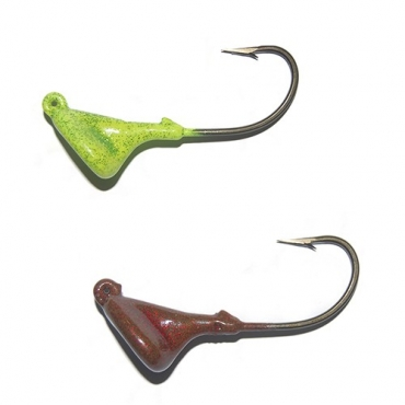 ANZUELO JIG STAND UP 25G 5/0 BRONCE ROJO Y VERDE (2ud)