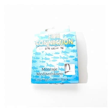 ANZUELO MONTADO FISH CONNECTION CARP HIGH CARBON (MONTAJE MEDITERRANEO 1/0) (10ud)