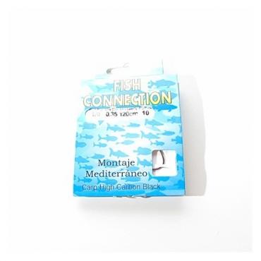 ANZUELO MONTADO FISH CONNECTION CARP HIGH CARBON (MONTAJE MEDITERRANEO 6) (10ud)