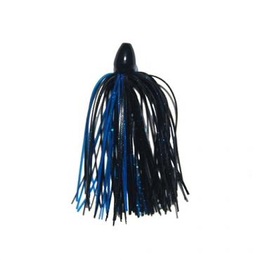 TUNGSTEN JIG RUBBER DCAST BLACK BLUE