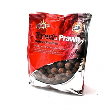 DYNAMITE BAITS FRESH PRAWN BOILIES SPICY SHELLFISH 20 MM (1 KG)