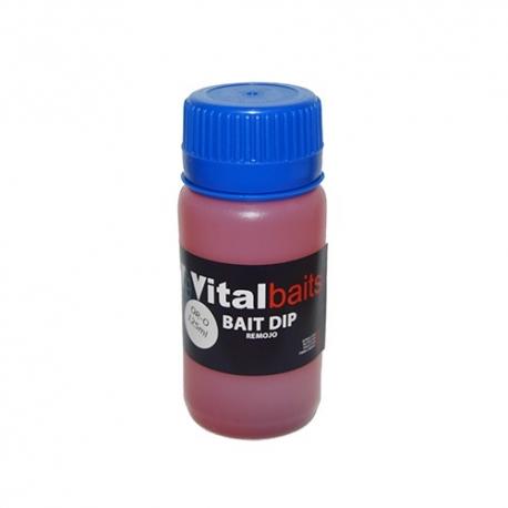 VITAL BAITS BAIT DIP OR-O CALAMAR Y FRESA (125 ML)