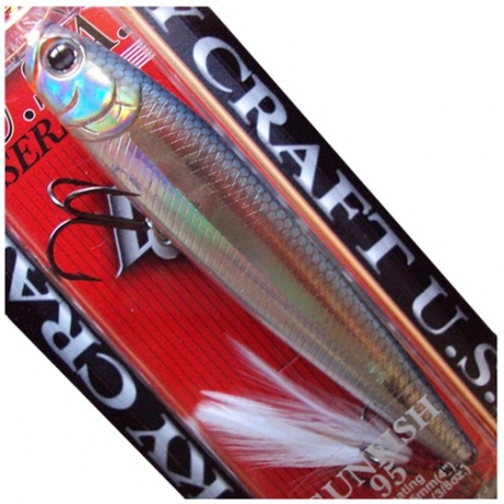 LUCKY CRAFT GUNFISH 95 FLOATING SPANISH ALBURNO CLEAR WATER 95 MM (12 G)