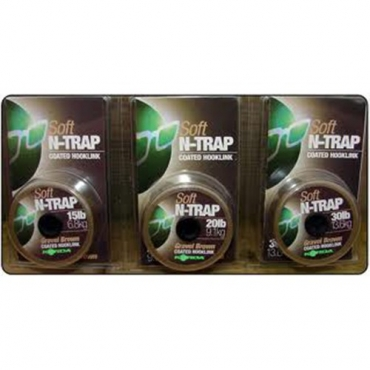 BAJO LINEA KORDA N-TRAP GRAVEL BROWN (30 LB-20 M)