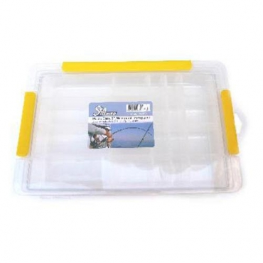 CAJA SEAFISHING SF WATERPROOF TRANSPARENTE (297x175x45 MM)