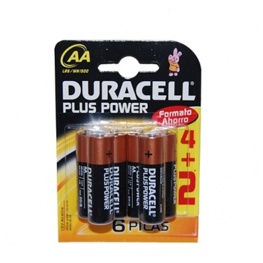 PILAS DURACELL PLUS POWER AA (6ud)