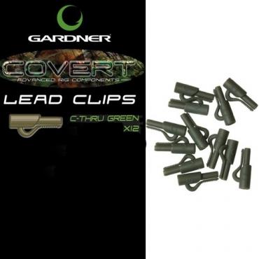 LEAD CLIP GARDNER COVERT C-THRU GREEN (12ud)