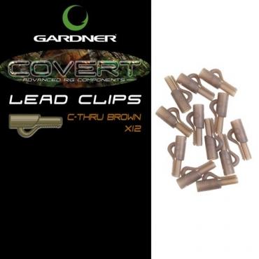 LEAD CLIP GARDNER COVERT C-THRU BROWN (12ud)