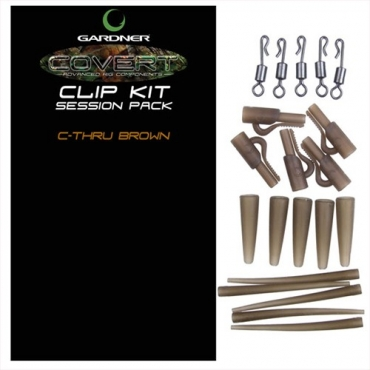 CLIP KIT SESSION PACK GARDNER COVERT C-THRU BROWN (5ud)