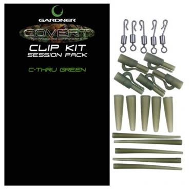 CLIP KIT SESSION PACK GARDNER COVERT C-THRU GREEN (5ud)