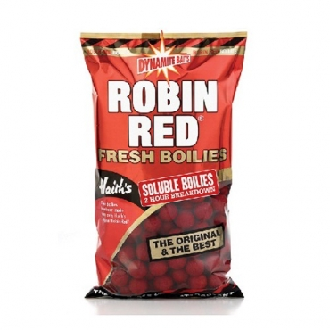 DYNAMITE BAITS BOILIES SOLUBLE ROBIN RED 18 MM (1 KG)