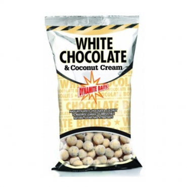 DYNAMITE BAITS BOILIES FRESHY ROLLED WHITE CHOCOLATE COCONUT CREAM 15 MM (1 KG)