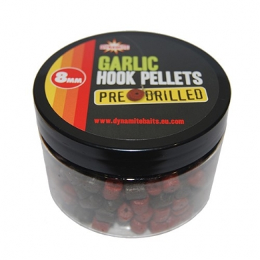 DYNAMITE BAITS DRILLED HOOK PELLETS GARLIC 8 MM (150 G)