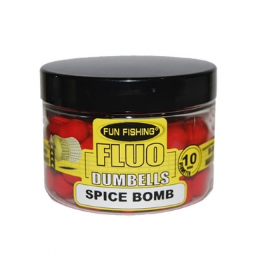 FUN FISHING DUMBELLS FLUO POPUPS SPICE BOMB 10 MM (40 G)