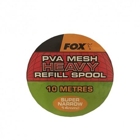 FOX PVA MESH HEAVY SUPER NARROW 14 MM REFILL SPOOL (10 M)
