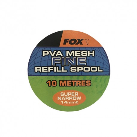 FOX PVA MESH FINE SUPER NARROW 14 MM REFILL SPOOL (10 M)