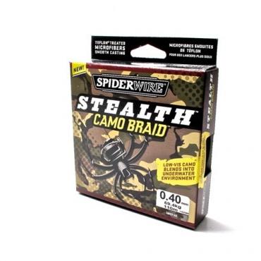 TRENZADO BERKLEY SPIDERWIRE STEALTH CAMO BRAID 0.40 MM (110 M)