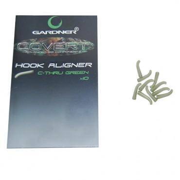 HOOK ALIGNER GARDNER COVERT C-THRU GREEN LARGE (10ud)