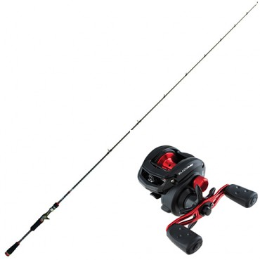 COMBO CAÑA CINNETIC CRAFTY CRB4 BASS GAME CASTING 8517-70H CARRETE ABU GARCIA BLACK MAX