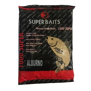 SUPER BAITS GROUNDBAIT 1000 SUPER ALBURNO NATURAL (1 KG)