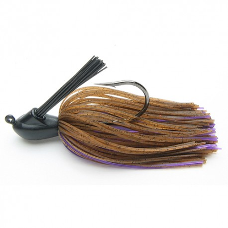 TUNGSTEN JIG RUBBER KEITECH MODEL 1 CASTING JIG 1/2 OZ 008 BROWN PURPLE (1ud)