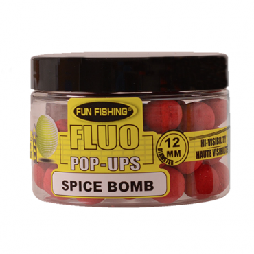 FUN FISHING BOILIES FLUO POPUPS SPICE BOMB 12 MM (45 G)