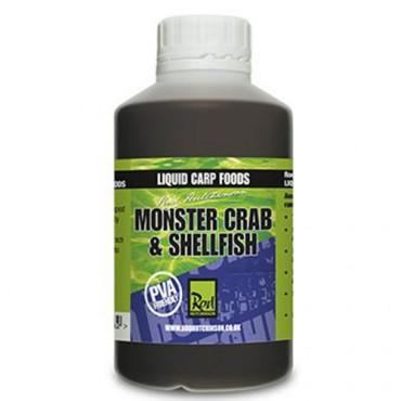 ROD HUTCHINSON LIQUID CARP FOODS MONSTER CRAB & SHELLFISH (500 ML)
