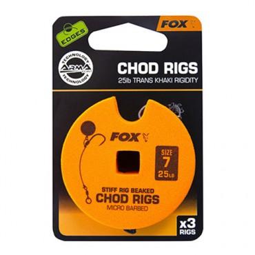 ANZUELO MONTADO FOX CHOD RIGS TRANS KHAKI RIGIDITY 6 25LB (3ud)