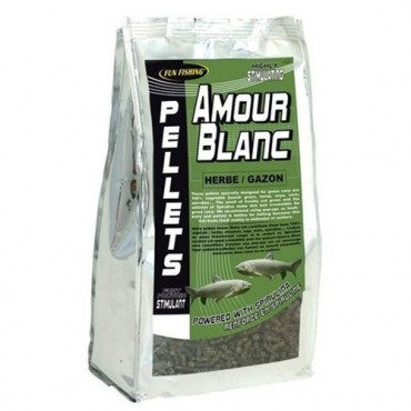 FUN FISHING AMOUR BLANC HERBE GAZON PELLETS 6 MM (700 GR)