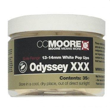 CCMOORE ODYSSEY XXX BOILIES POP-UP WHITE 13-14 MM (35ud)