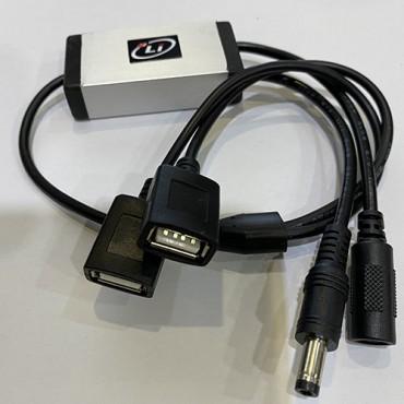 3 LITHIUM ADAPTADOR 2 PUERTOS USB PARA BATERIA