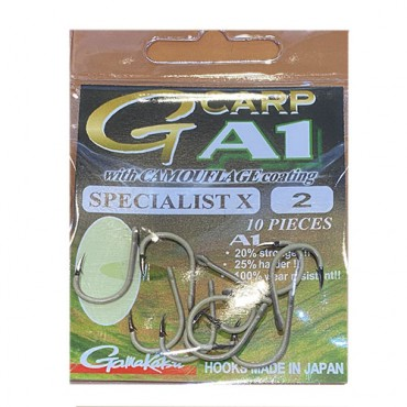 ANZUELO GAMAKATSU A1 G-CARP CAMOUSAND SPECIALIST X  Nº 2 (10 ud)