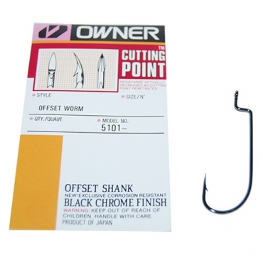 ANZUELO OWNER OFFSET SHANK WORM 2 (6ud)