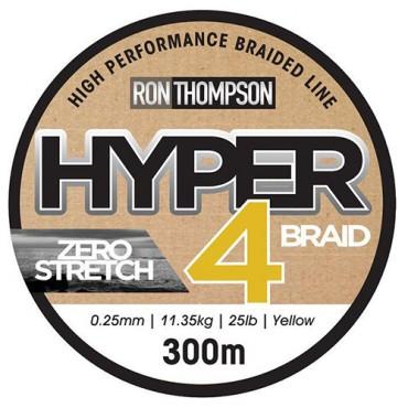 RON THOMPSON HIPER 4 BRAID 0,25MM 11,35 KG AMARILLO